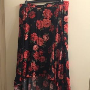 Floral Hi lo skirt